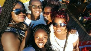 On the Ilala  with the girls