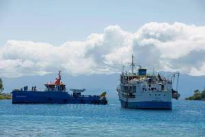 The  meeting of  MV Ilala  and  MV Chilembwe  on Lake Malawi